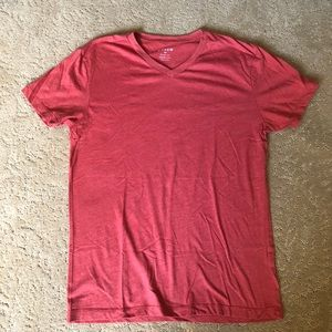 Men's slim fit J-crew shirt. Rust colored. V neck